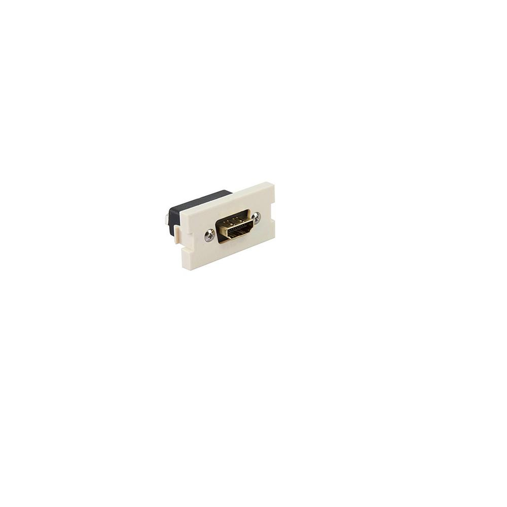 HDMI Feedthrough Multimedia Outlet System (MOS) Module, Ivory