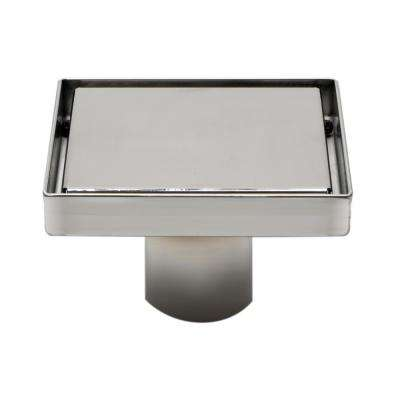 5.25 in. Linear Shower Drain in Polished Stainless Steel