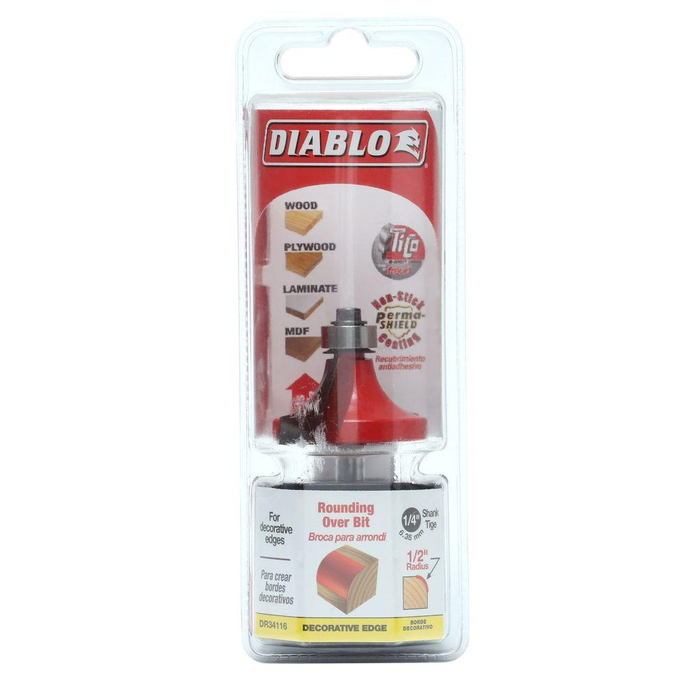 Diablo 1/2 in. Radius Rounding Over Router Bit