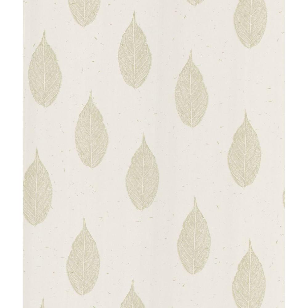 Madhya Cream Leaf Toss Wallpaper Sample