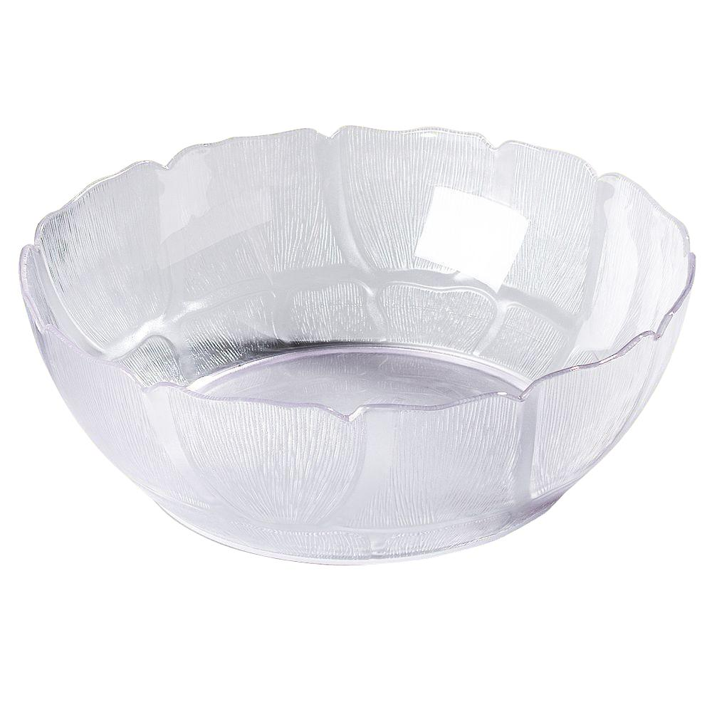 9.0 in. Diameter Polycarbonate Salad/Serving Bowl in Clear (Case of 12)