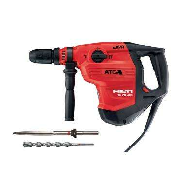 120-Volt SDS-MAX TE 70-ATC-AVR Corded Concrete Rotary Hammer Drill with Pointed Chisel and TE-YX SDS-MAX Style Drill Bit