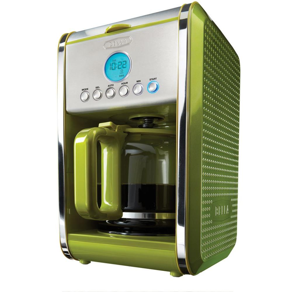 Bella Dots Programmable 12-Cup Coffee Maker in Green