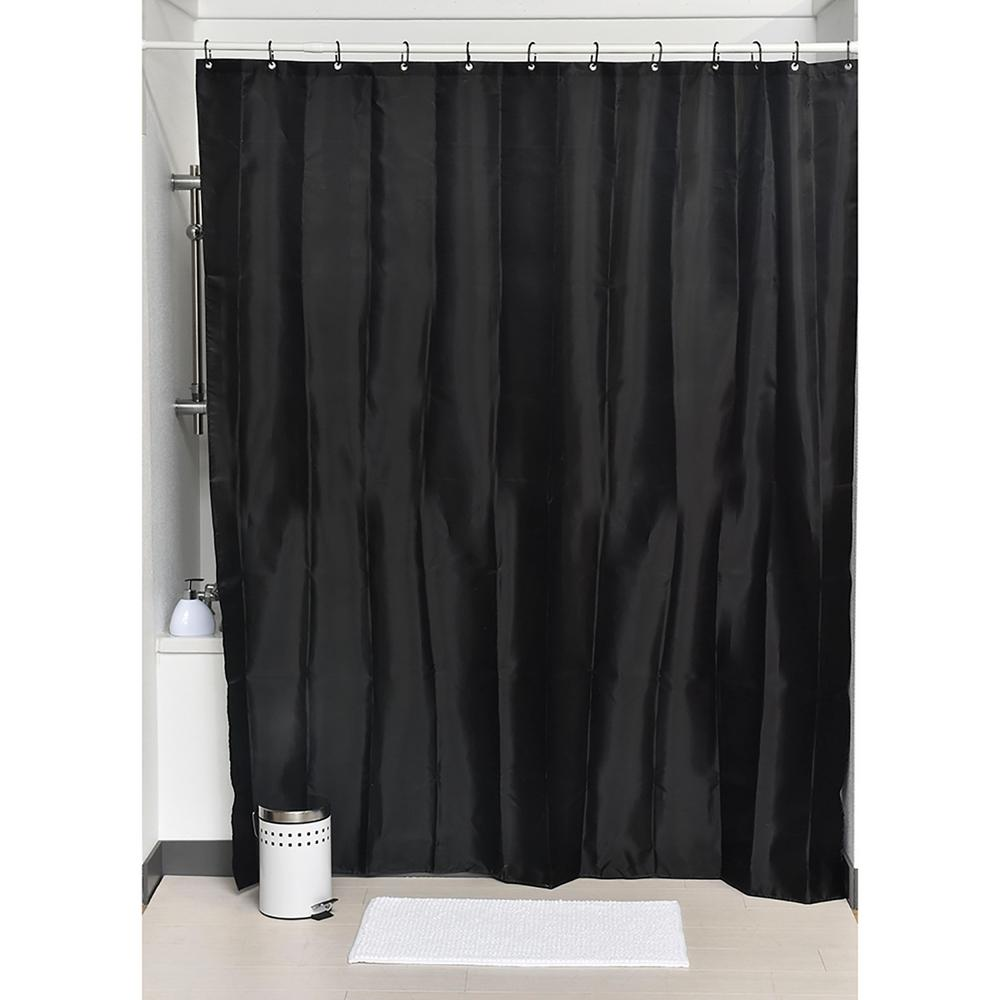 Design S Fabric Polyester Shower Curtain With 12 Matching Rings Black 1204103
