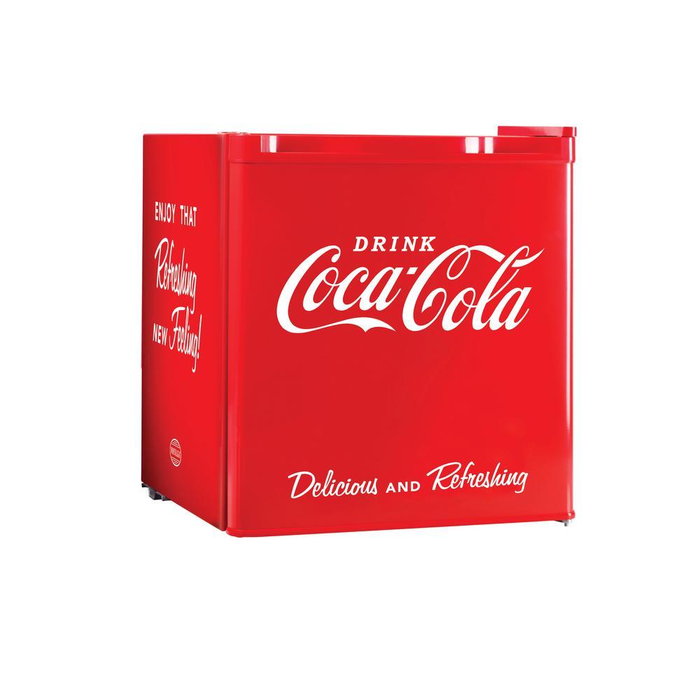 Nostalgia Coca-Cola Series 1.7 cu. ft. Mini Refrigerator in Red