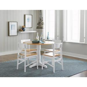 newest c1c73 85bd3 Christy Light Oak/White Round Dining Table