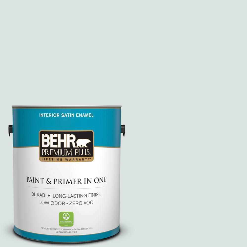 1-gal. #N430-1 Mountain Peak White Satin Enamel Interior Paint