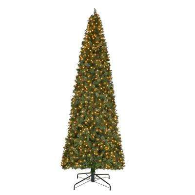 12 ft. Pre-Lit LED Alexander Pine Artificial Christmas Quick Set Tree with 2850 Tips and Warm White Lights