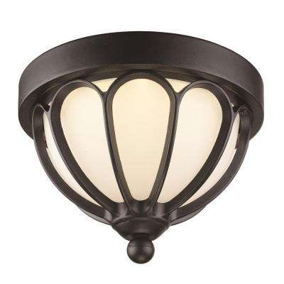 Mirage Black Integrated LED Outdoor Flush Mount
