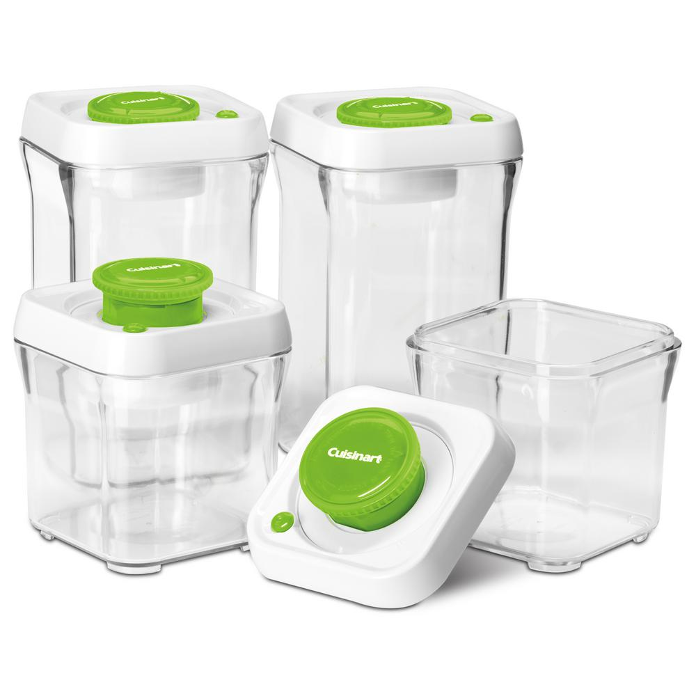 Cuisinart FreshEdge Vacuum-Seal 8-Piece Food Storage System in Green