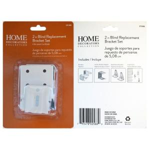Home Decorators Collection 2 In Faux Wood Blind Replacement Brackets 10793478025886 The Home