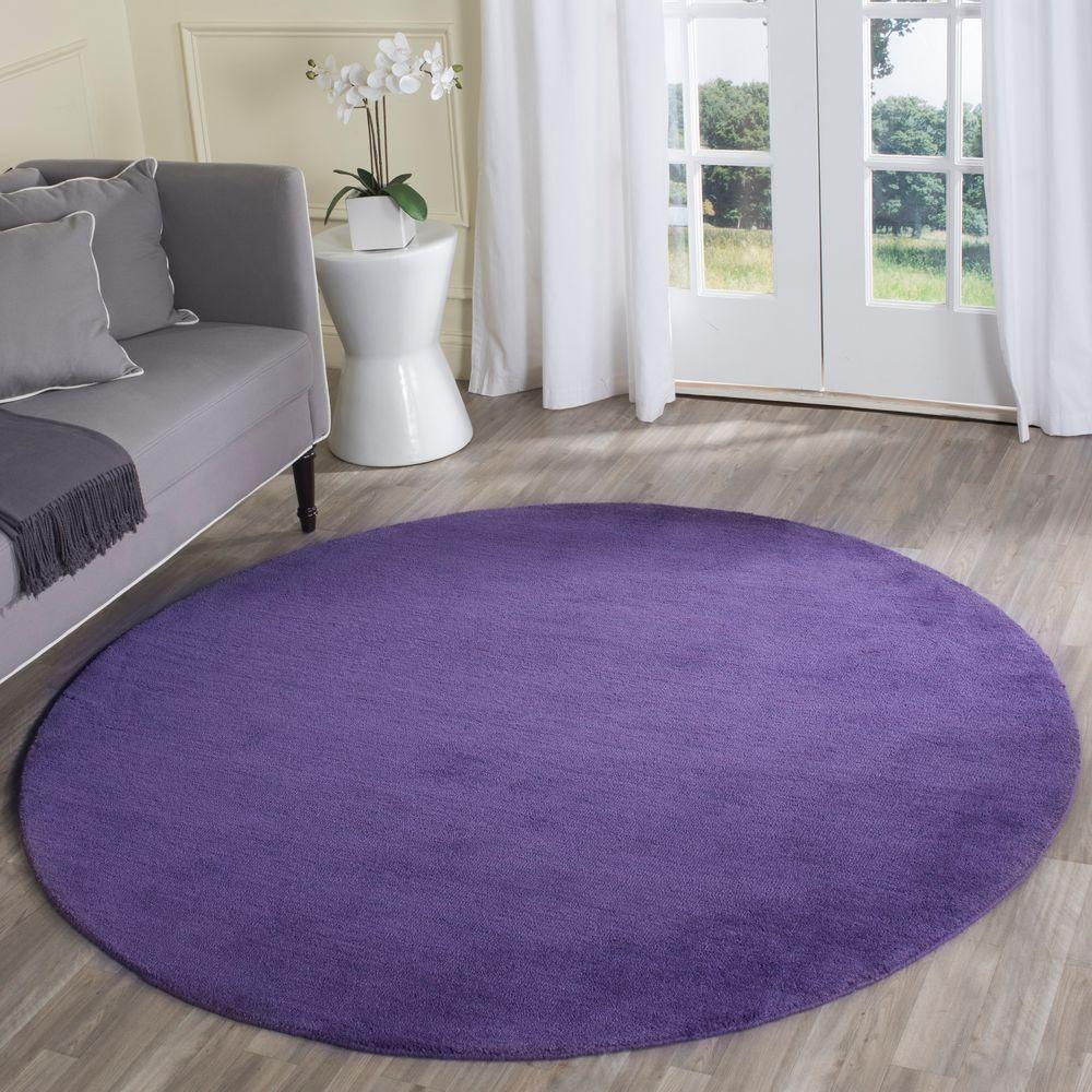 Safavieh Himalaya Purple 6 Ft. X 6 Ft. Round Area Rug