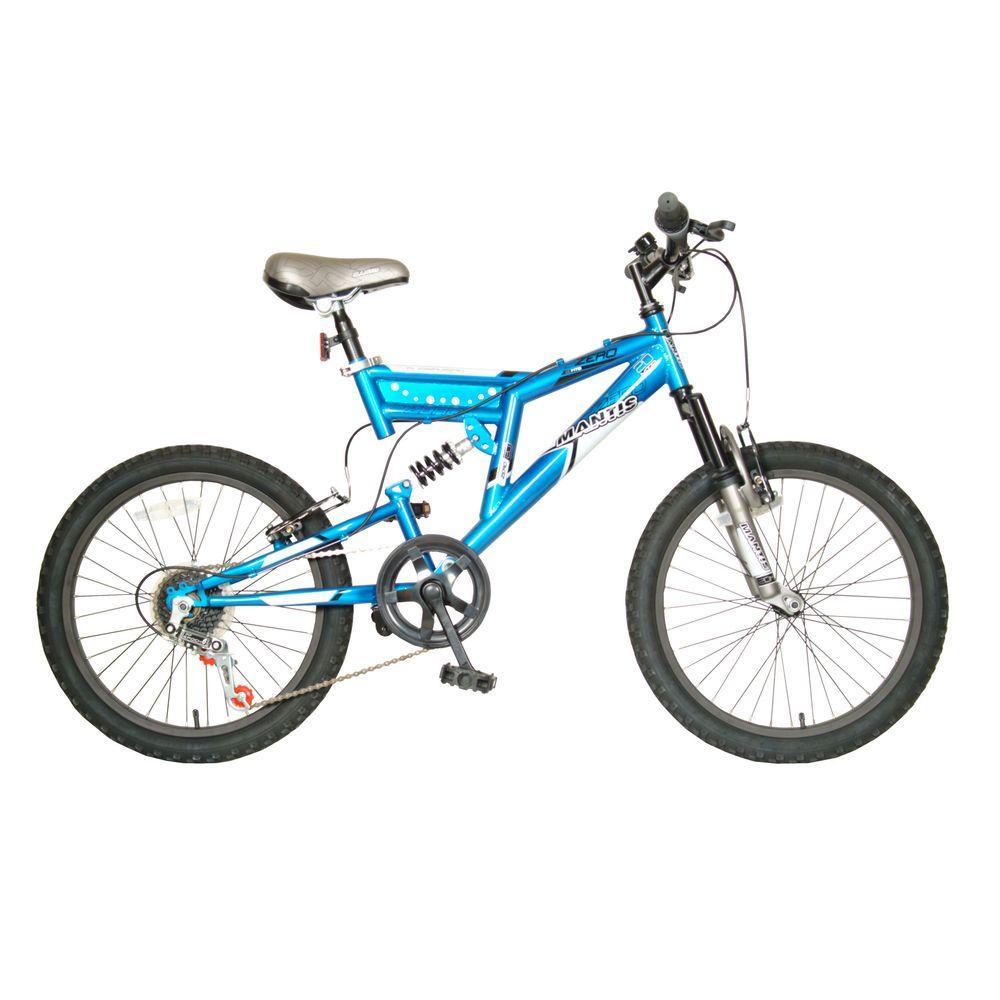 Zero Full Suspension Kid's Bike, 20 in. Wheels, 15 in. Frame, Boy's Bike in Blue