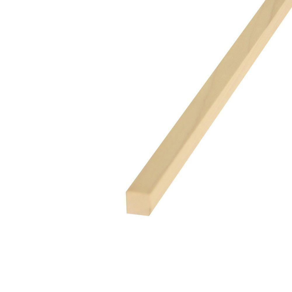 1/4 in. x 36 in. Hardwood Square Dowel