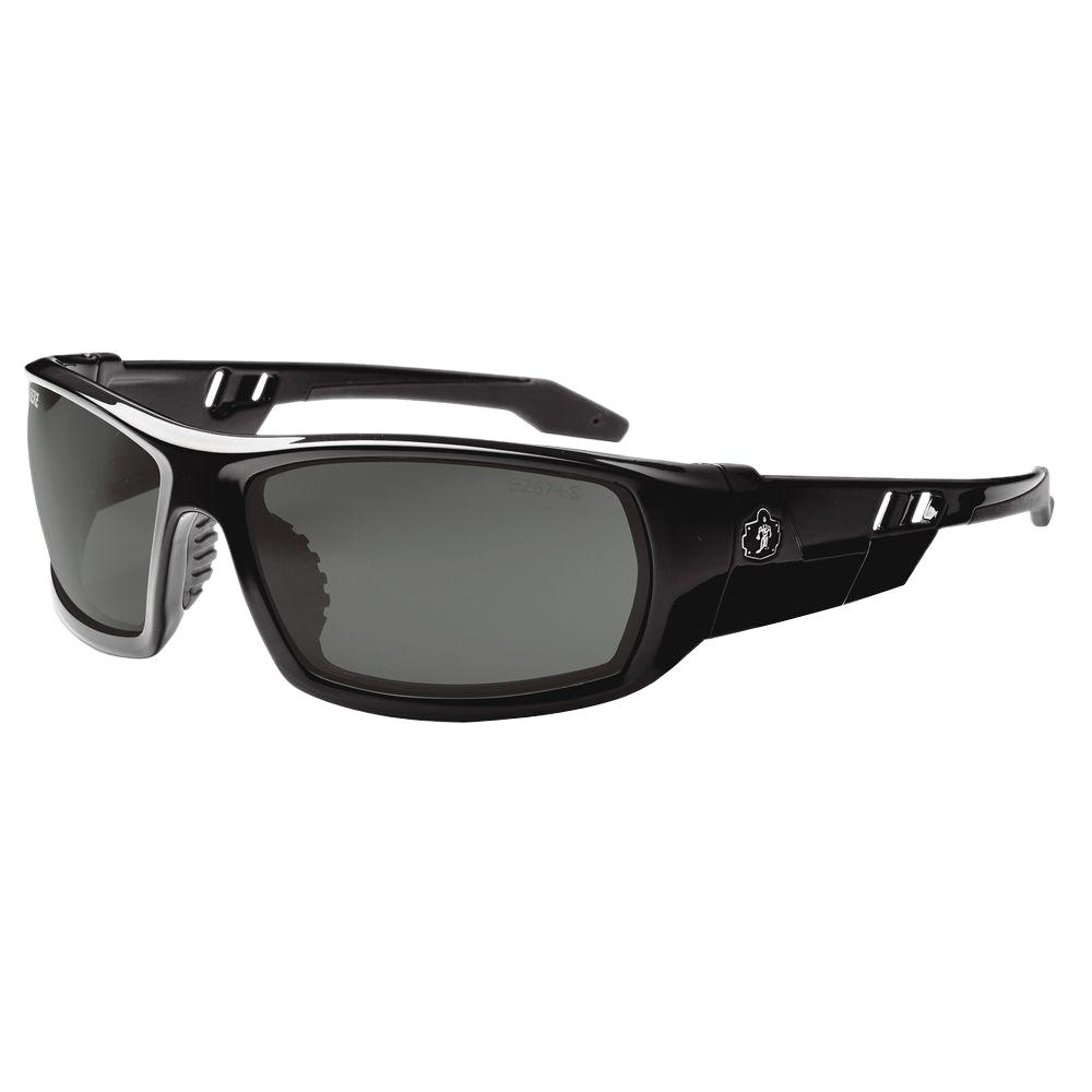 b5f4a2229bd Skullerz Smoke Lens Black Safety Glasses-ODIN - The Home Depot