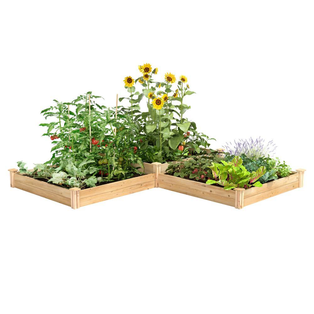 4 ft. x 12 ft. Two Tiers Original Cedar Raised Garden Bed