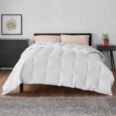 All Season Down Feather Blend Cotton White King Comforter