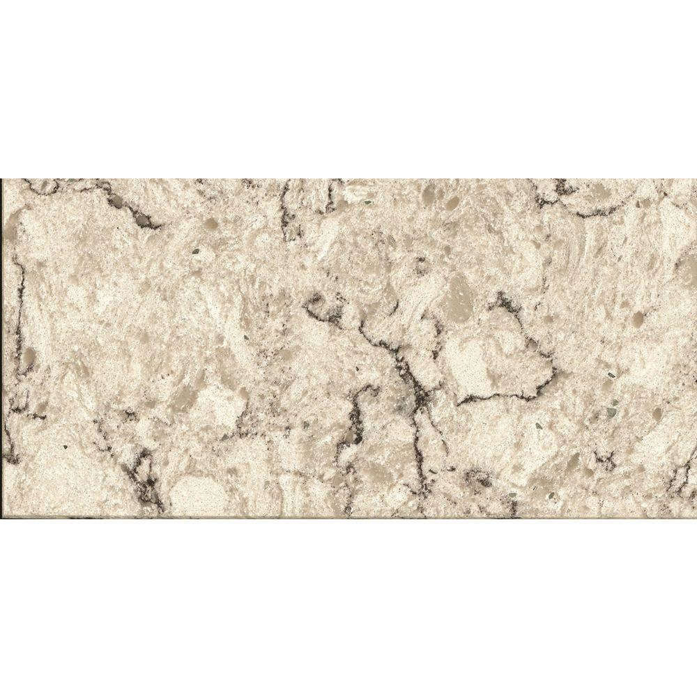 Quartz Bathroom Countertops Home Depot: 3 In. X 3 In. Quartz Countertop In Aria-LG-M003-VT