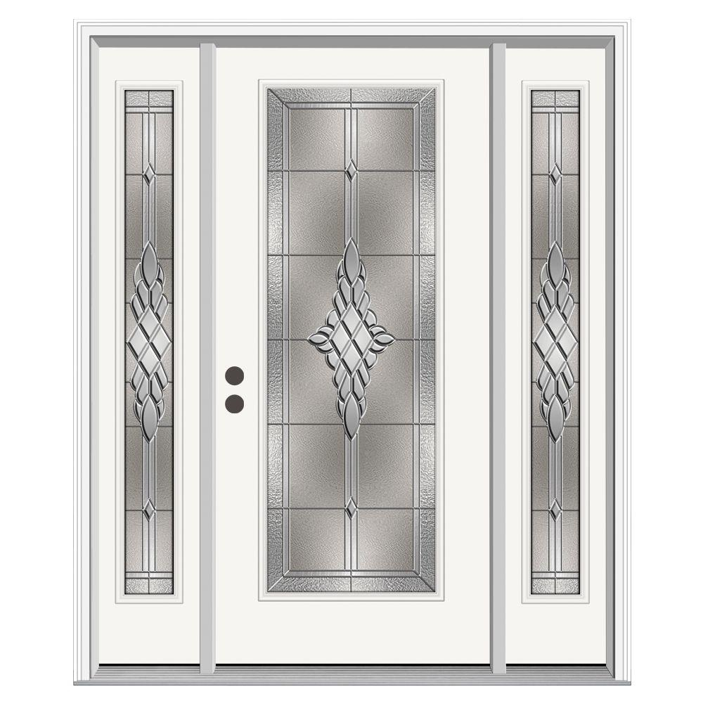 Jeld Wen Front Entry Doors: JELD-WEN 66 In. X 80 In. Full Lite Hadley Primed Steel