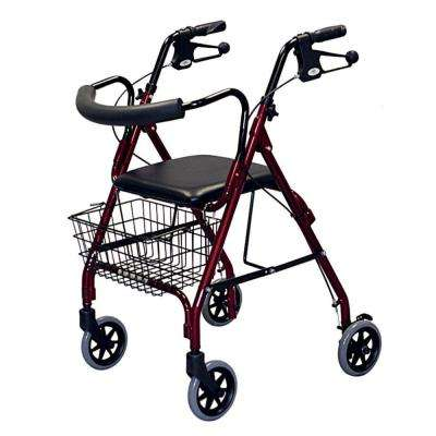 4-Wheel Rollator/Walker in Burgandy