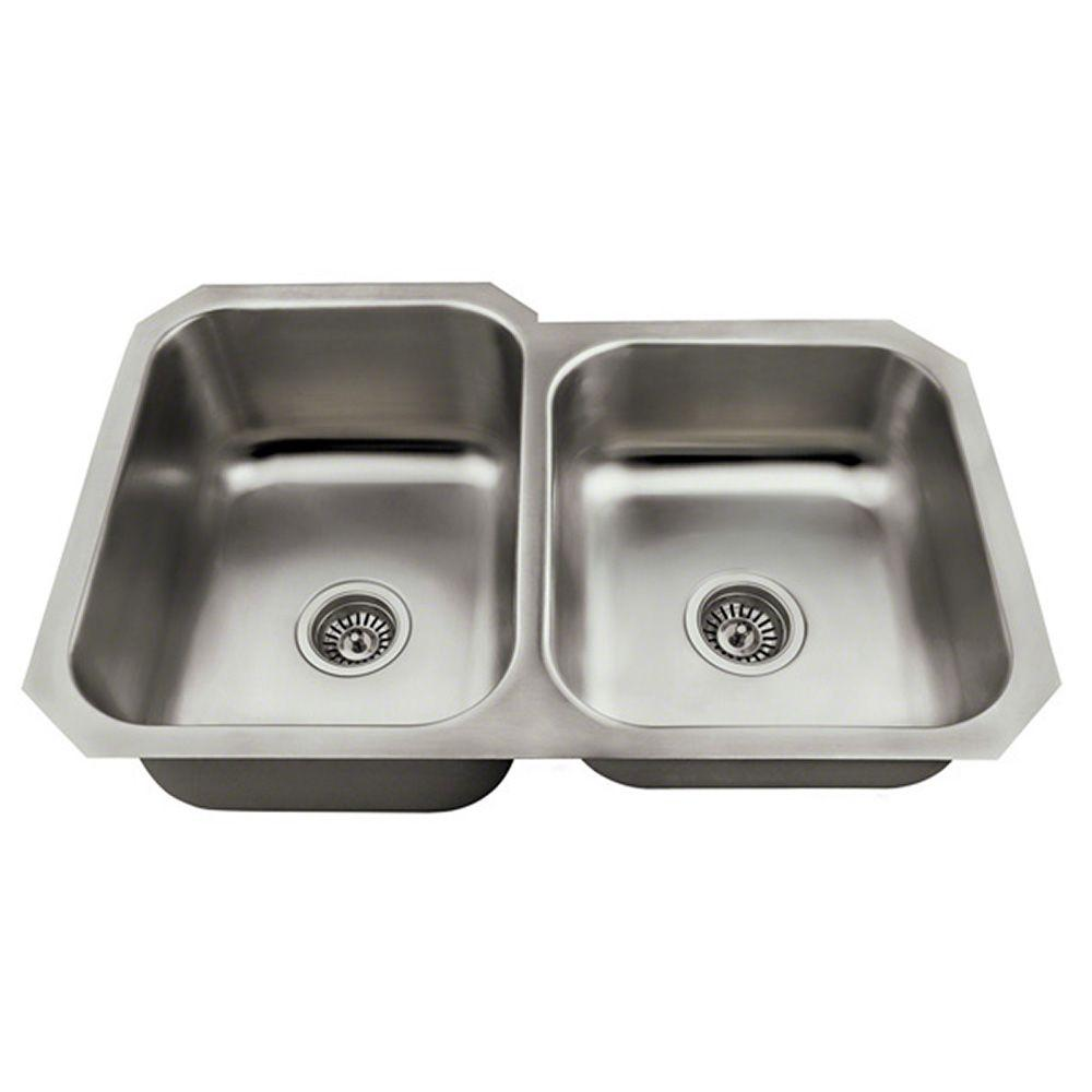 Kitchen Sink Keeps Backing Up: Polaris Sinks Undermount Stainless Steel 32 In. Double