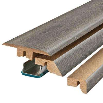 Vintage Pewter/Sedona Taupe Oak 3/4 in. Thick x 2-1/8 in. Wide x 78-3/4 in. Length Laminate 4-in-1 Molding