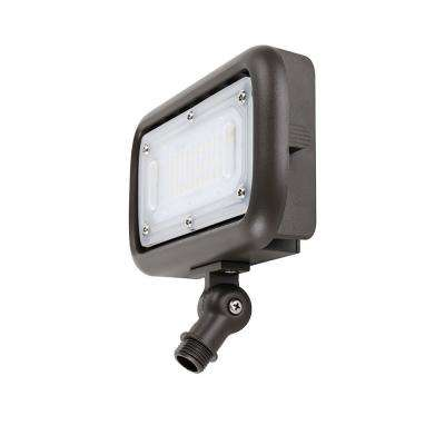 30-Watt Bronze Outdoor Integrated LED Landscape Weatherproof Wall Wash Flood Light