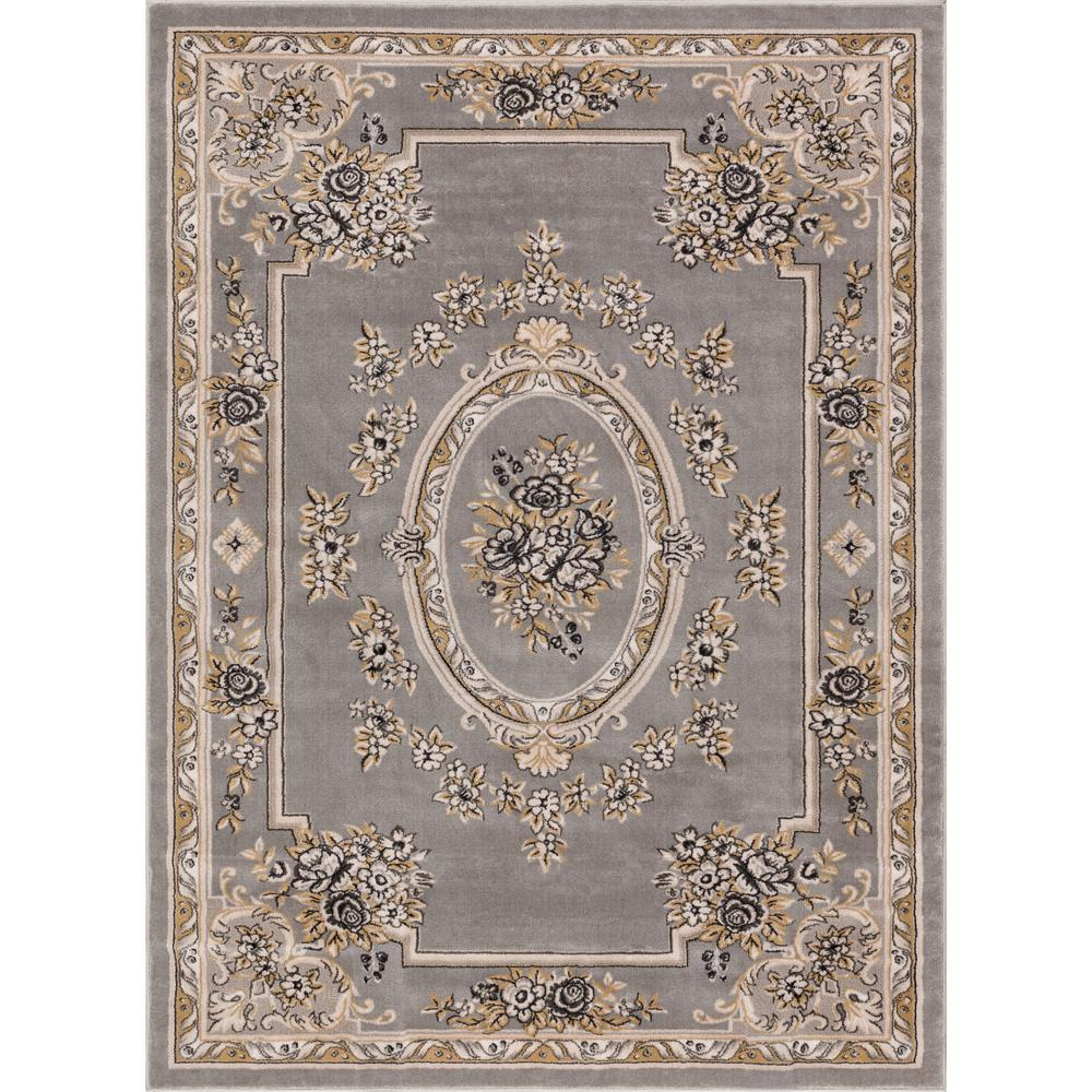 Well Woven Timeless Le Pe Palais Gray 5 Ft X 7 Traditional Area