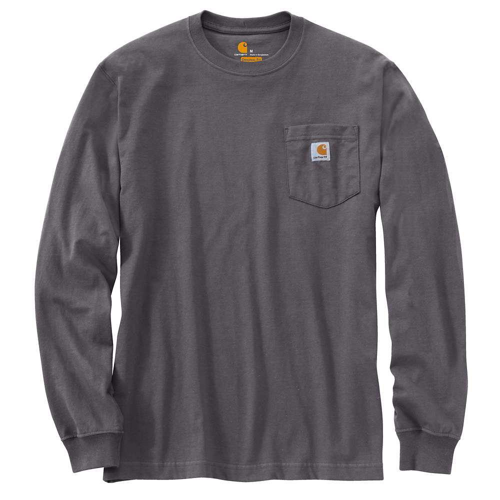 ab187a52f Carhartt Men's Regular Large Carbon Heather Cotton/Polyester Long-Sleeve T- Shirt