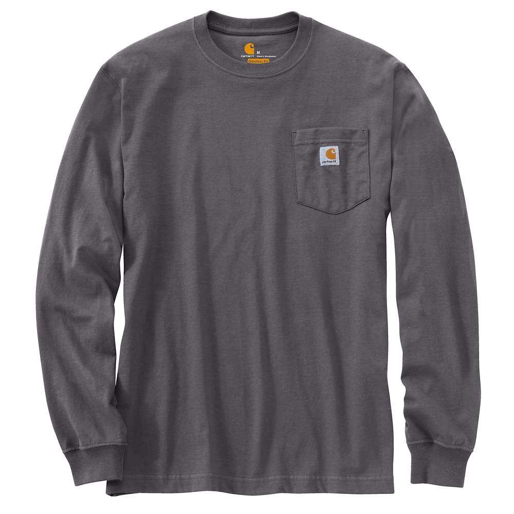 a994782570 Carhartt Men's Regular Large Carbon Heather Cotton/Polyester Long-Sleeve T- Shirt