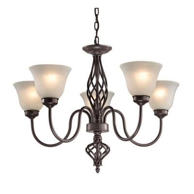 Santa Fe 5-Light Oil-Rubbed Bronze Chandelier