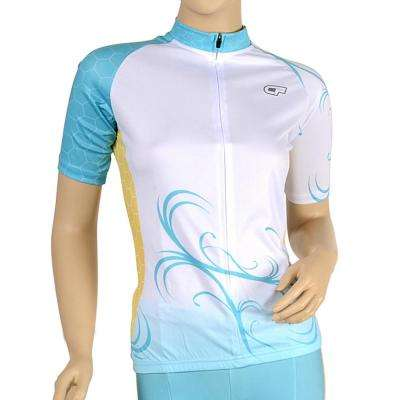 Triumph Women's Medium Blue Cycling Jersey