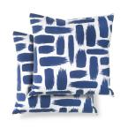 18 in. x 18 in. Baja Nautical Square Outdoor Throw Pillow (2 Pack)