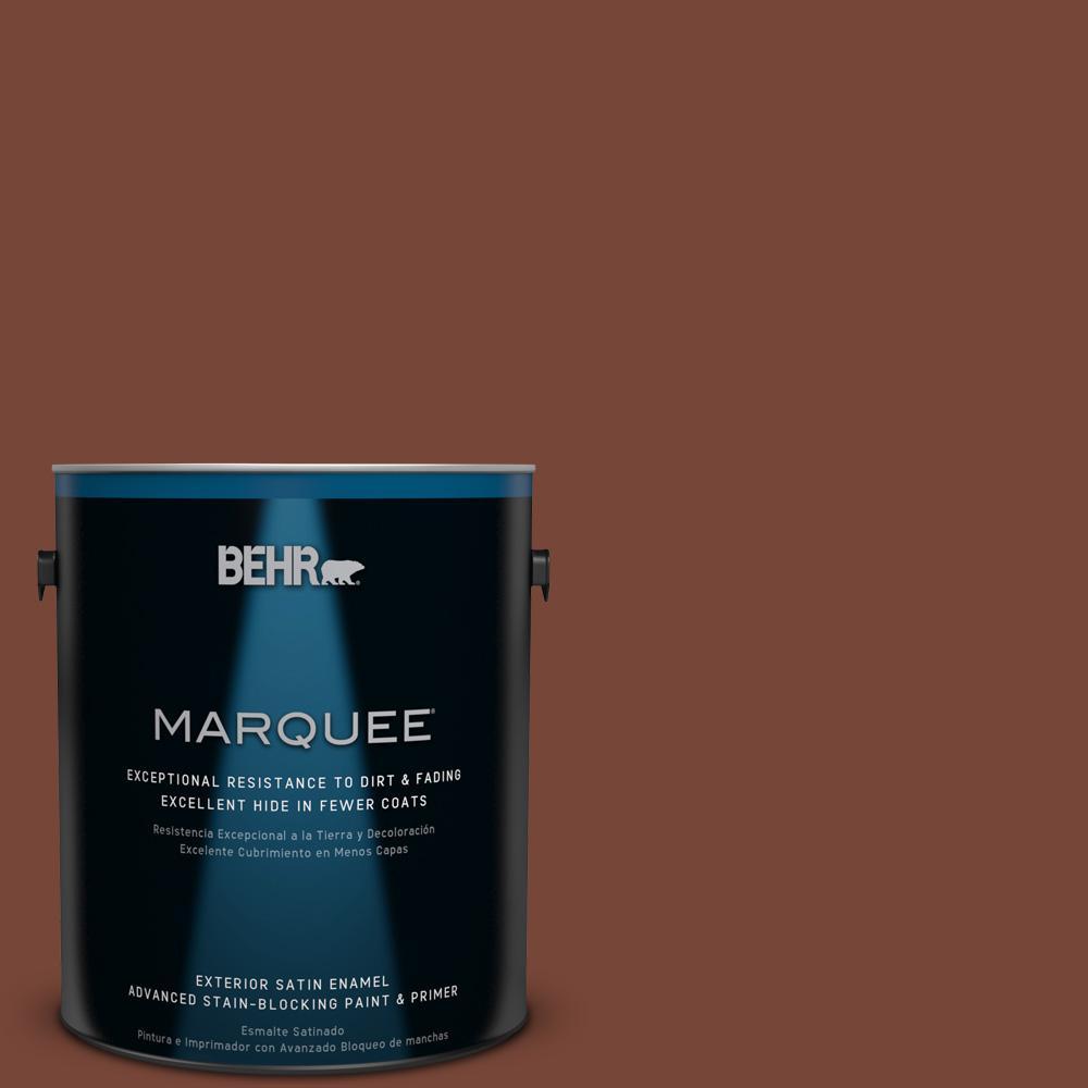 BEHR MARQUEE 1 Gal. #240F 7 Root Beer Satin Enamel Exterior Paint