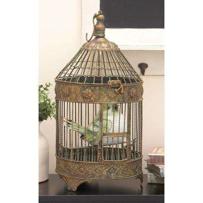 Antique Bronze Metal Birdcages (2-Pack)