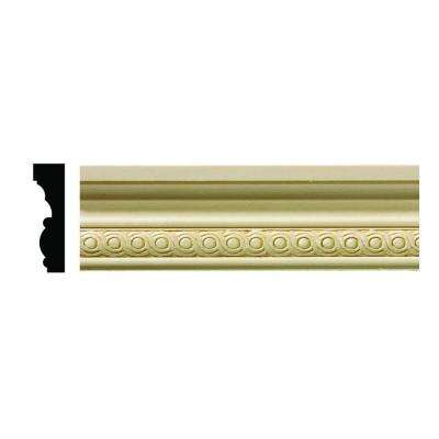 1/2 in. x 1-3/4 in. x 96 in. Hardwood White Unfinished Rondele Small Chair Rail Moulding