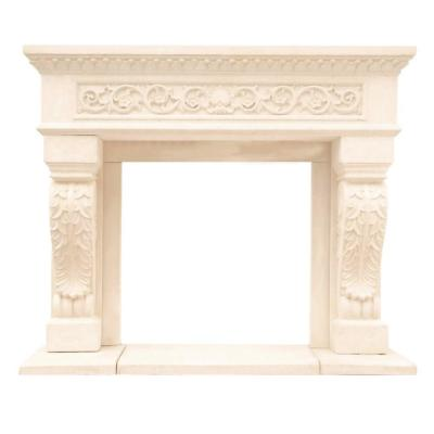 Chateau Series King Henry 50 in. x 62 in. Cast Stone Mantel