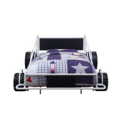 Taban White and Black PU Twin Bed
