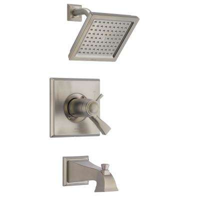 Dryden TempAssure 17T Series 1-Handle Tub and Shower Faucet Trim Kit Only in SpotShield Stainless (Valve Not Included)