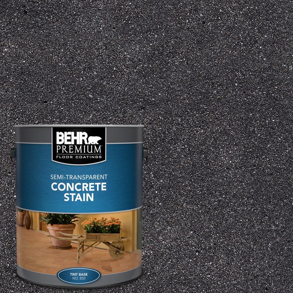 BEHR PREMIUM 1 gal. #STC-35 Dark Coal Semi-Transparent Flat Interior/Exterior Concrete Stain