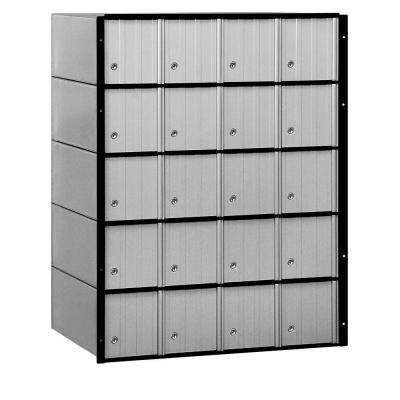2200 Series Standard System Aluminum Mailbox with 20 Doors
