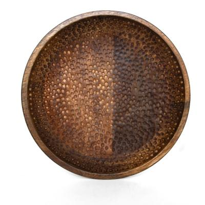 Artisan Wood - Hammered Natural Decorative Bowl