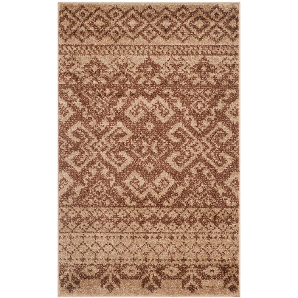 Adirondack Camel/Chocolate 3 ft. x 5 ft. Area Rug