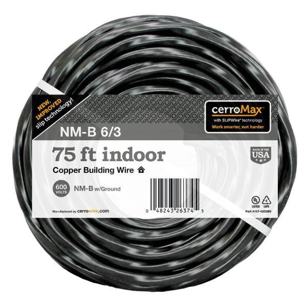 75 ft. 6/3 NM-B Wire