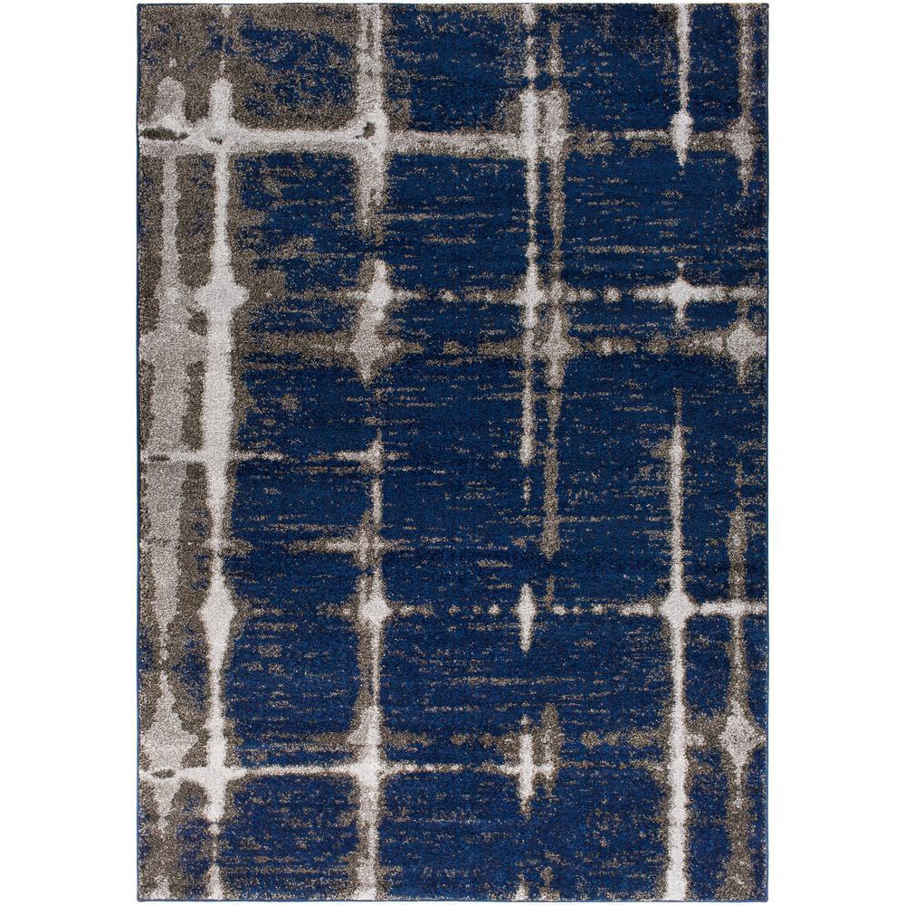 Baylee Dark Blue 7 ft. 10 in. x 10 ft. 10 in. Area Rug