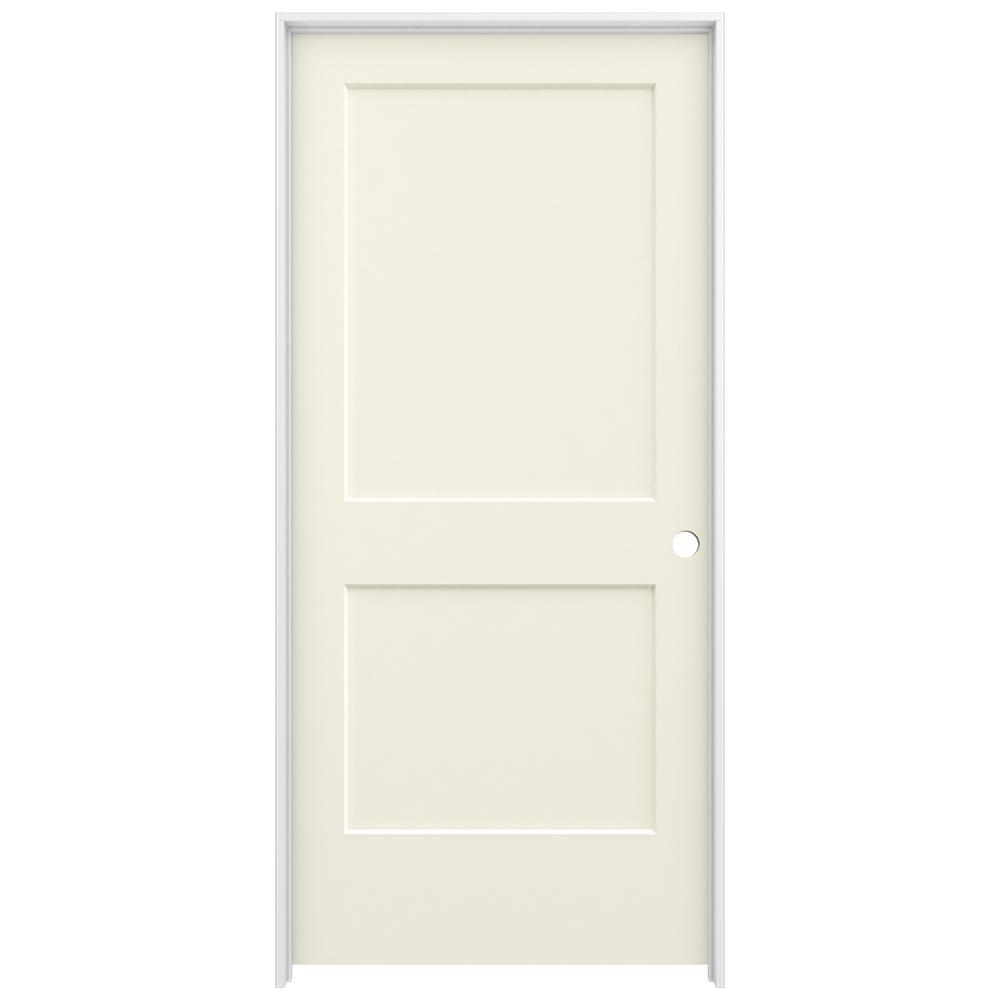 36 in. x 80 in. Monroe Vanilla Painted Left-Hand Smooth Solid
