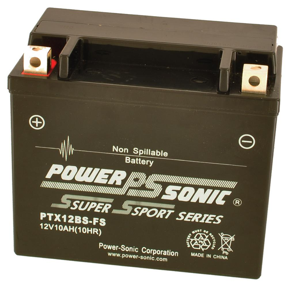 Power-Sonic PTX12-BS Sealed Maintenance Free Powersport Battery