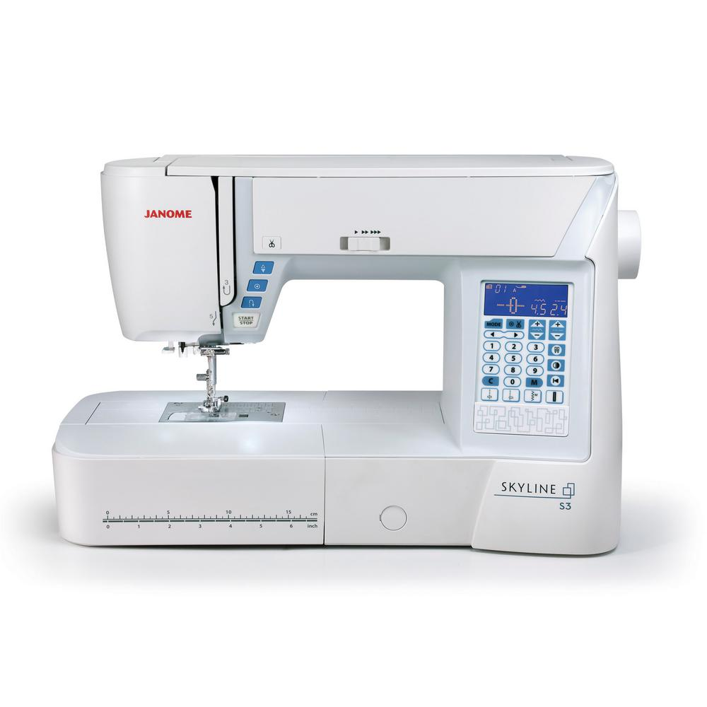 Janome Skyline S3 120 Stitch Sewing Machine with Large Workspace