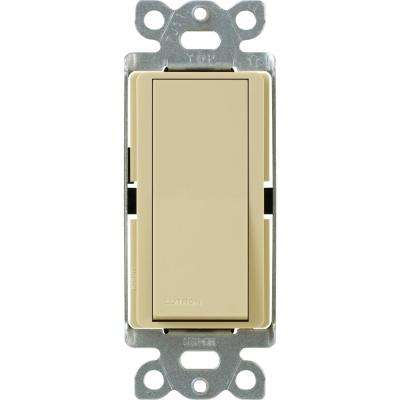 Claro 15 Amp 4-Way Rocker Switch with Locator Light, Ivory