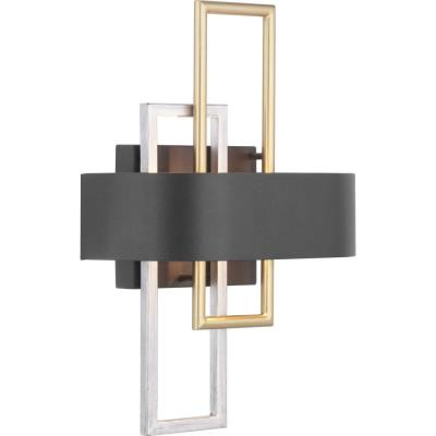 Adagio Collection 2-Light Black Wall Sconce